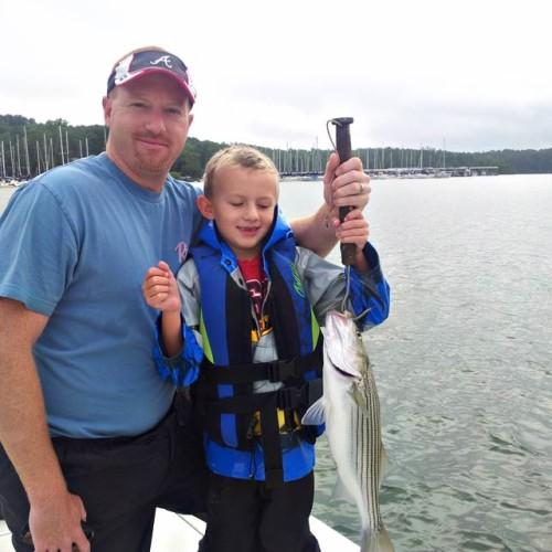 Summer Schooling Lake Lanier Bass