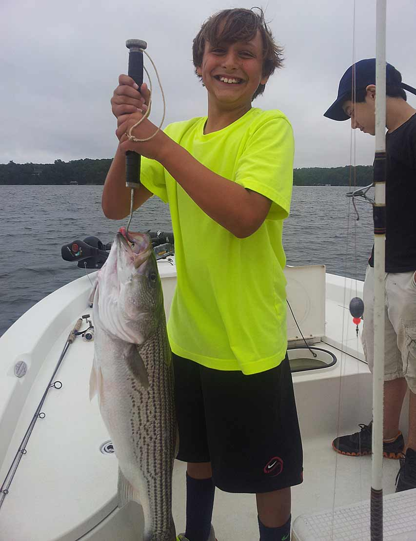 summertime lake lanier stripers captain mack 39 s