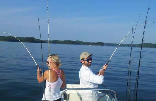 Lanier Fishing Report | Power Reeling Stripers