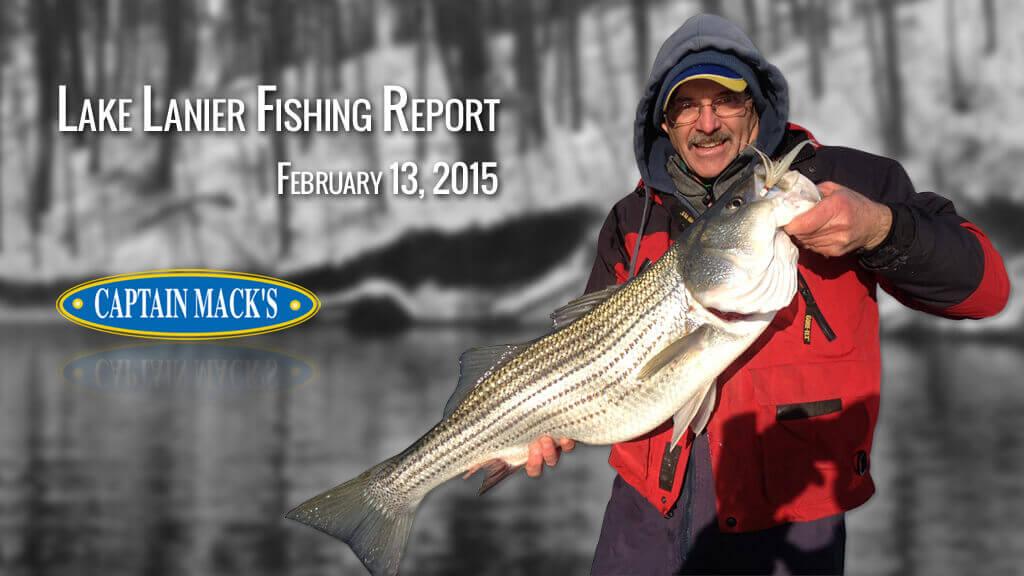 Lake Lanier Fishing Report February 13 2015
